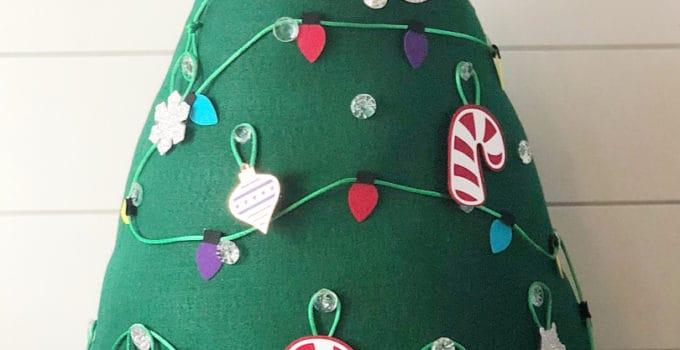 Kids Felt Christmas Tree with Cricut