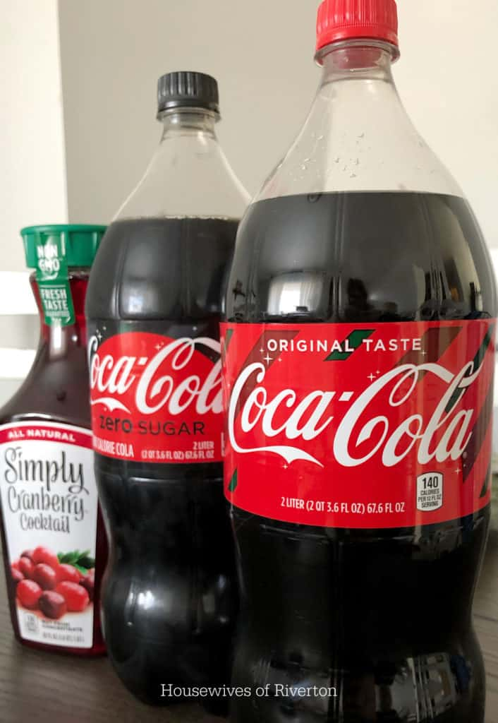 Cranberry Vanilla Coke-tail ingredients | www.housewivesofriverton.com