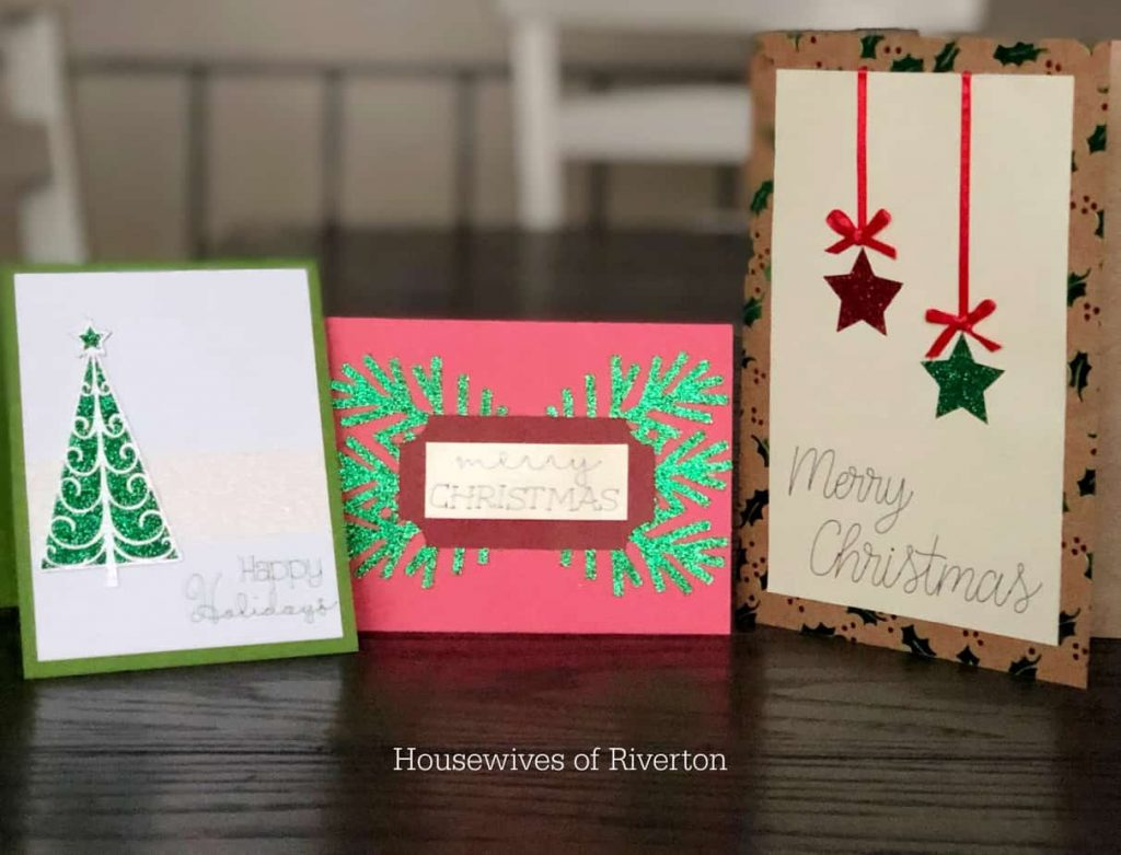 DIY Christmas Cards with Cricut