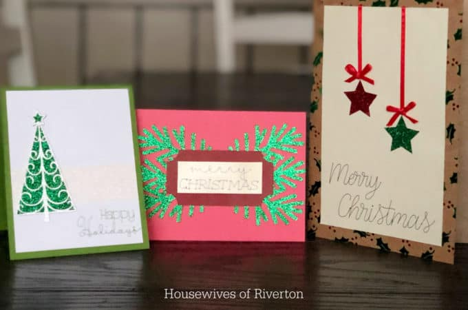 DIY Christmas Cards Trio | www.housewivesofriverton.com