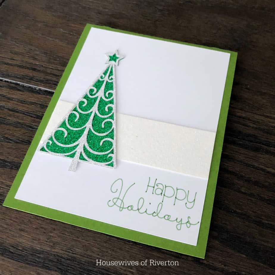 Glitter Tree Card | www.housewivesofriverton.com