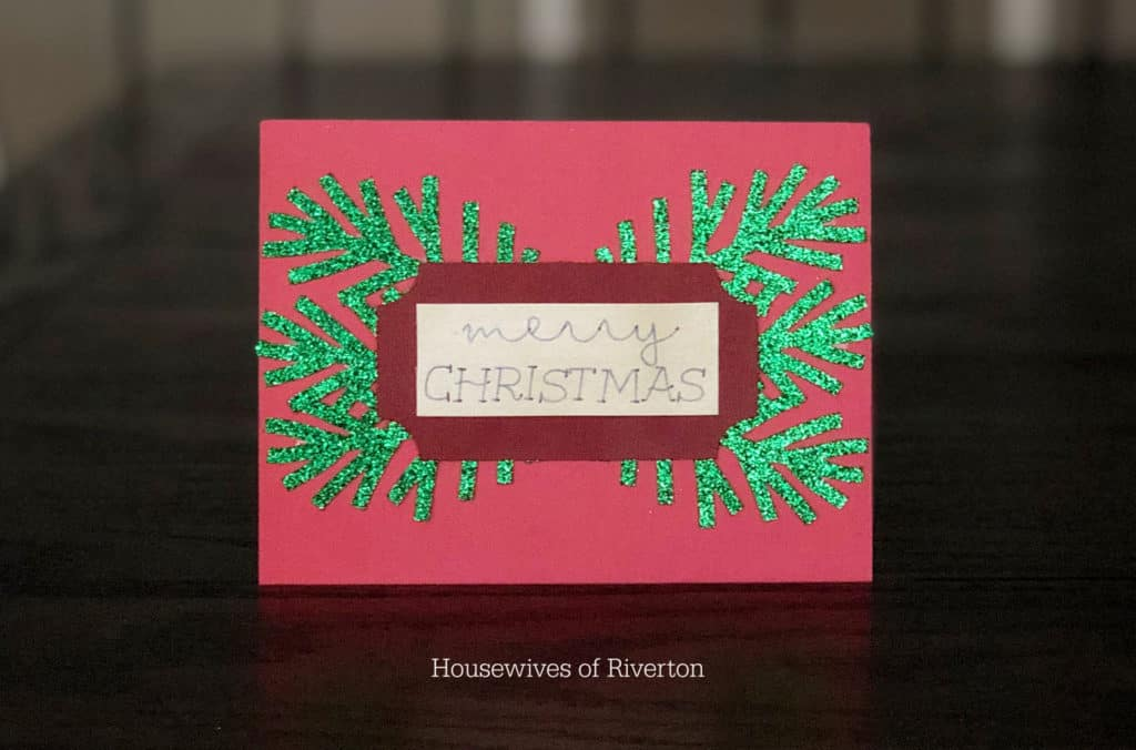 Red and Green Christmas Card | www.housewivesofriverton.com