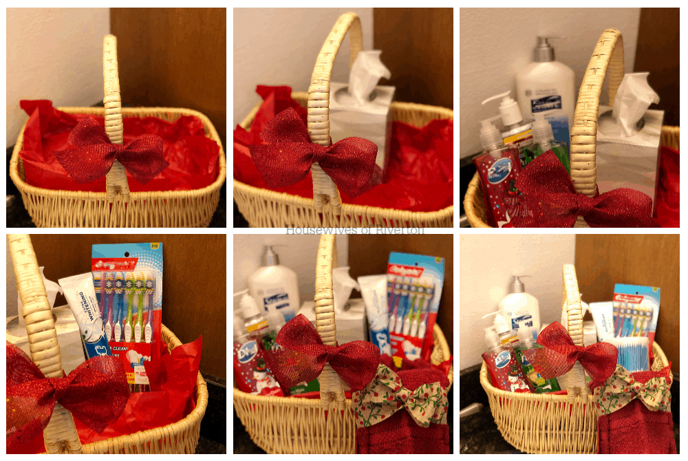 Guest Bathroom Gift Basket Items | www.housewivesofriverton.com