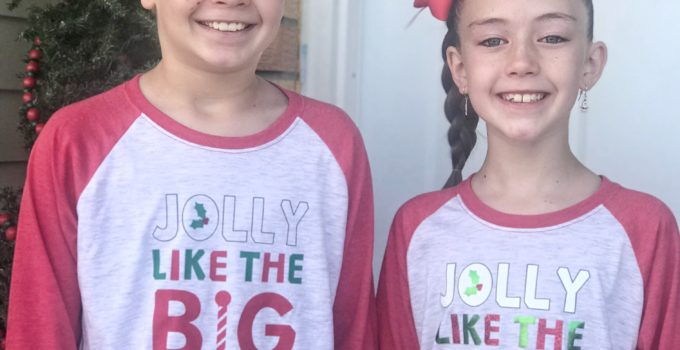 DIY Boy and Girl Christmas Shirts