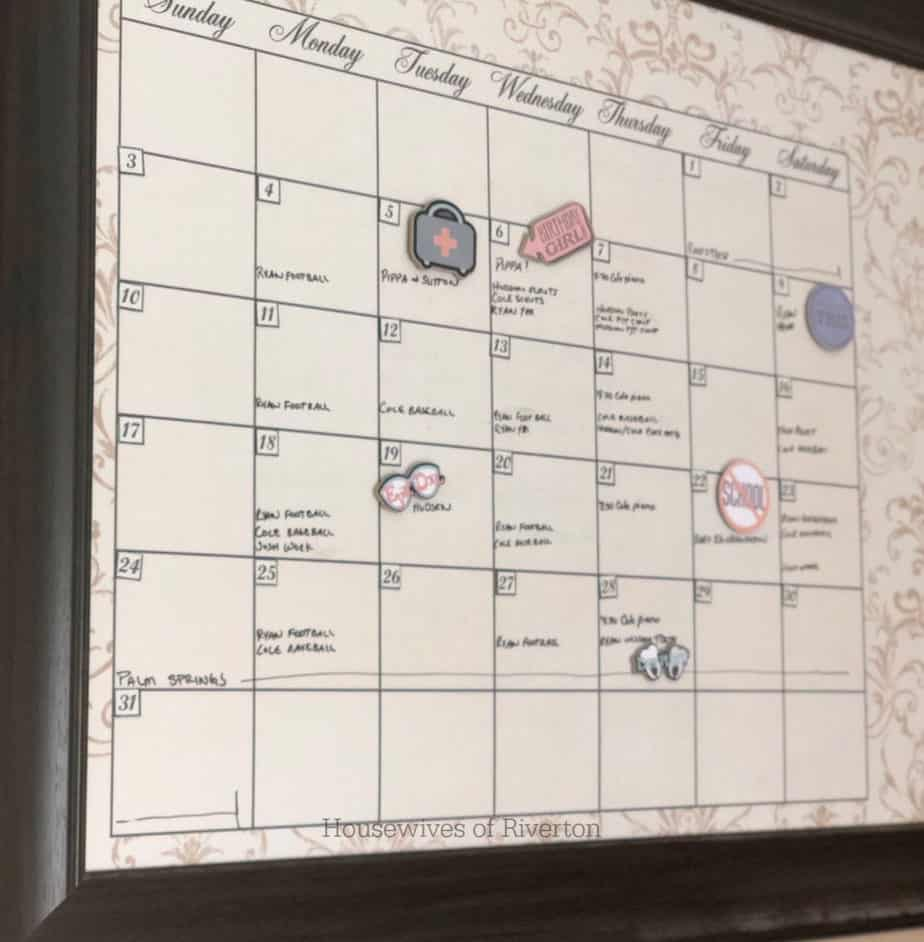 Chipboard Calendar Magnets