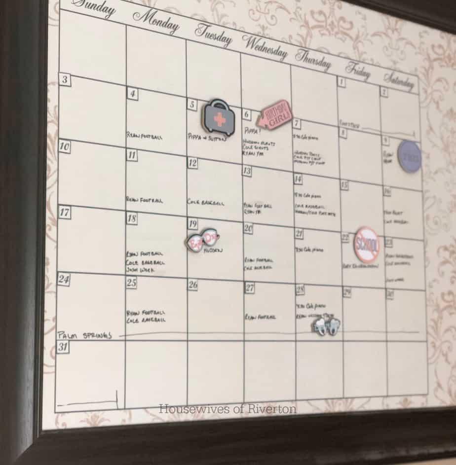 Chipboard Calendar Magnets