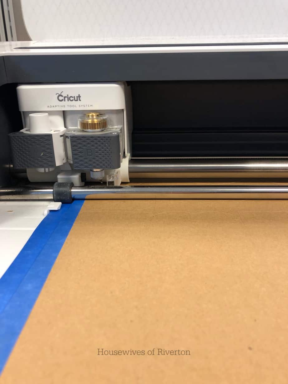 Cricut Maker cutting Chipboard