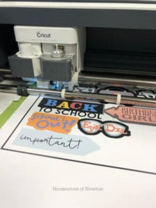 Cutting out printable vinyl using Print then Cut with Cricut