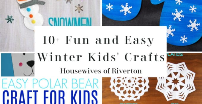 10+ Fun and Easy Winter Kids' Crafts