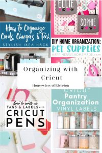 Organizing with Cricut | www.housewivesofriverton.com