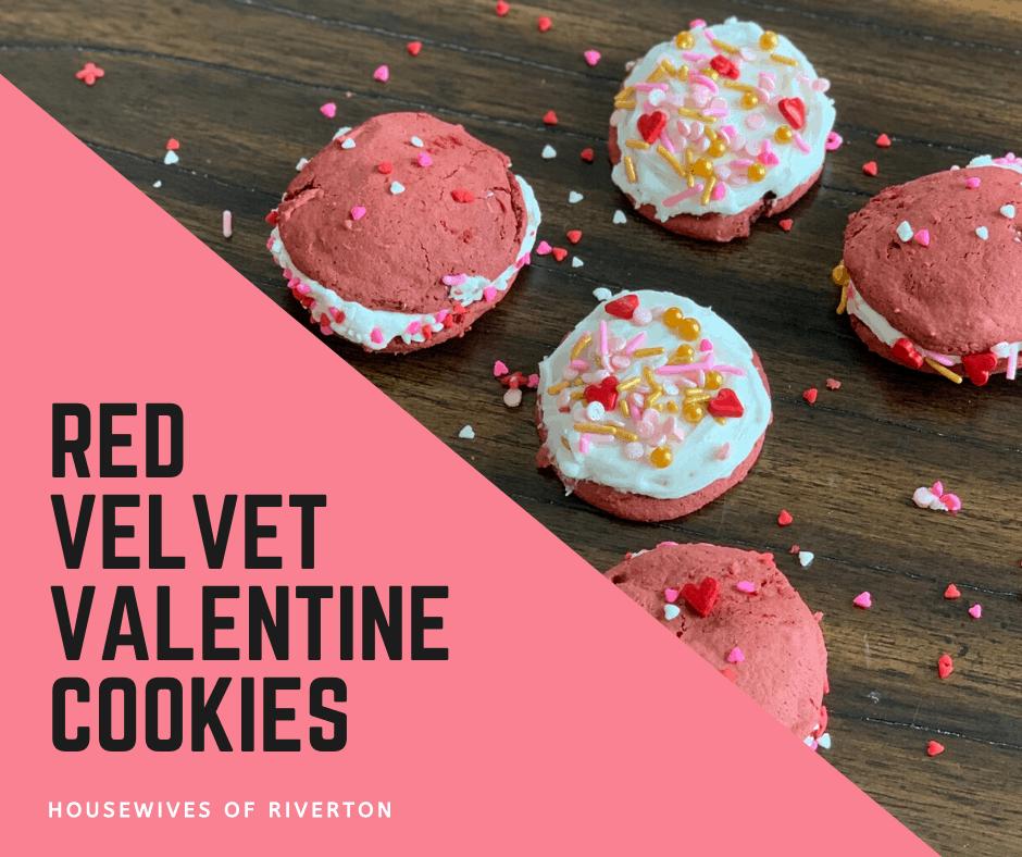 red velvet Valentine Cookies
