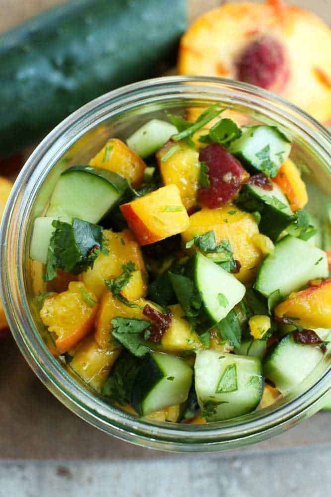 Cucumber Peach Fruit Salsa Recipes