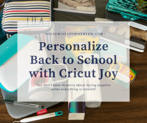 Personalized Back to School Supplies with Cricut - Round Up!