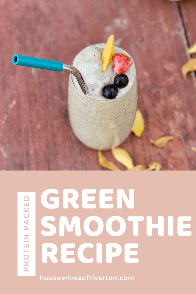 Protein Packed Green Smoothie Recipe - Pin