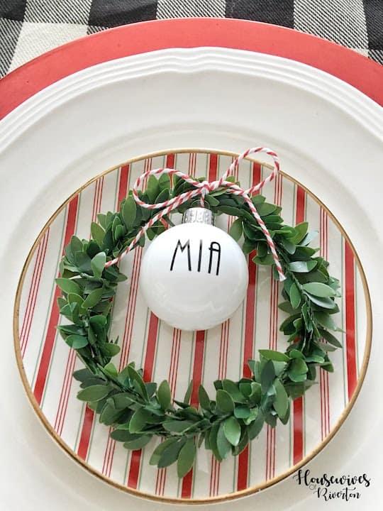Rae Dunn Inspired Christmas Tablescape