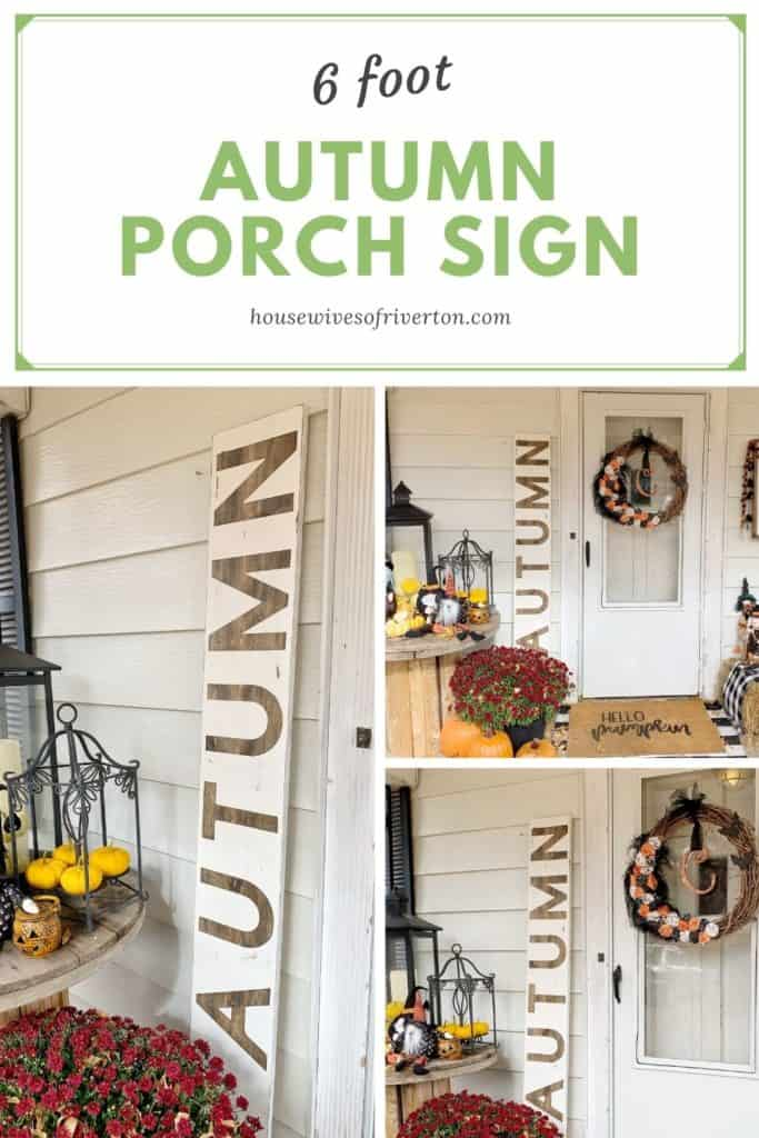 6' Autumn Porch Sign