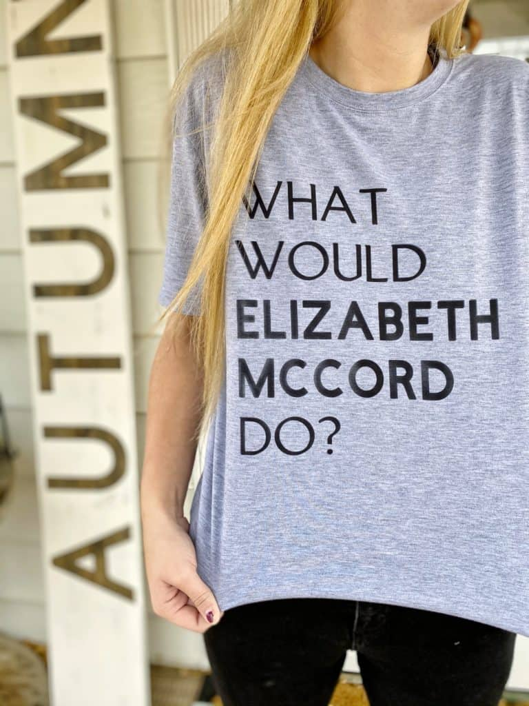 What would Elizabeth McCord Do t-shirt